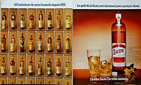 PUBLICITÉ DE PRESSE 1974 SUZE GENTIANE 180 IMITATIONS DE NOTRE BOUTEILLE