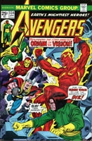 Avengers #134 (Marvel, 1975) Vision Origin - No stock images