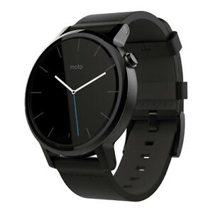 Motorola Moto 360 2nd Gen. 42mm Stainless Steel Case Black.