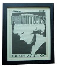 More details for the primitives+lovely+album+poster+ad+rare original 1988+framed+fast world ship