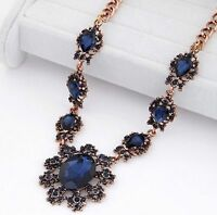 Fashion Crystal Flower Women Bib Choker Collar Chain Necklace Pendant Statement