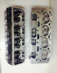 sbc loaded V 8 Cylinder Heads SBC 350 327 200cc straight PLUGS sbc