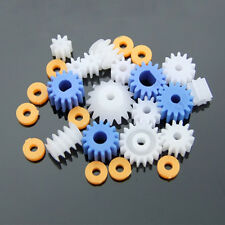 DIY Motor Gear Set 13pcs/set Worm Crown Toy Plastic Gears Pulley Belt Shaft