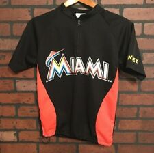 Miami Marlins Cycling Shirt 1/4 Zip Short Sleeve Size Youth Large