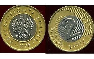 POLAND  POLOGNE  2 zlote 1995  ( etat )