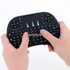 2.4G Wireless Mini Keyboard Handheld Touchpad Keyboard Mouse for PC Black UK