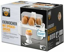 Elektrischer Eier Kocher Frühstück Edelstahl Mess Becher Picker Summer Schalter