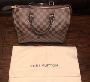 Louis Vuitton Speedy Damier Ebene 30 Red Lining