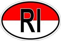 Autocollant sticker ovale oval drapeau code pays RI indonesie