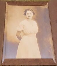 "4"" X 6"" Antique 1920's NETTIE SEYDEL Photo Gallery Paper Frame Scrapbook Photo"