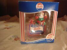 Vintage Pepsi Cola Santa Claus Christmas Ornament - 1997