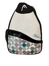 Head Tennis Backpack Bag White Black Polka Dot Gently Use Zipper Close