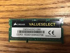 CORSAIR ValueSelect 4GB DDR3 1066 (PC3 8500) Laptop Memory
