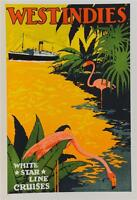 Travel Art Print Atlantis West Indies Cruise 1939 Kenneth Shoesmith 38x26 Poster Ebay