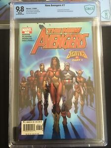 New Avengers #7 - CBCS 9.8 - First Appearance ILLUMINATI - White Pages