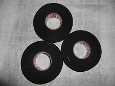 "BLACK ATHLETIC TAPE  3 rolls  1""x30yds.   * FIRST QUALITY *"