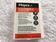 """Hayes Caja de 10 Cartucho de pellets de humo 65 """"tiempo de la quemadura Naranja Humo 33.4009"""