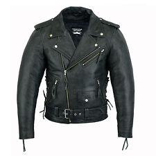 1386 Leder Motorradjacke Motorrad leder Jacke Chopper,Leather Biker Jacket Gr M