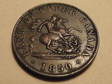 #2857 Canada / Upper; 1/2 Penny Token 1850