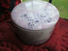 Lovely Collectable Decorated Vintage Retro Chic Ceramic Storage Box Jar With Lid