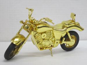 Feuerzeug Motorrad in gold, ohne OVP, Hersteller unbekannt, ca. 20 cm lang