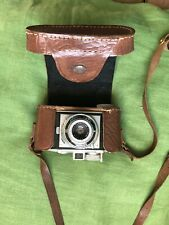 Vintage Agfa Karat camera with Folding Lens And Brown Leather Case