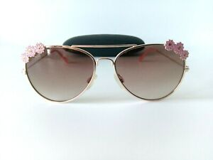 Marks & Spencer Women`s Sunglasses Brown Light Tinted Lenses Gold Metal Frame