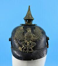 Authentic WWI WW1 German/Prussian Leather Pickelhaube Kaiser Spike Helmet