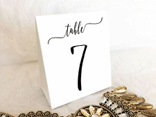 White Wedding Table Numbers 1 to 10 Tent Style Table Decorations Birthday Party
