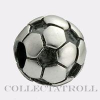 Authentic TrollBeads Silver Soccer Ball TrollBead  11519
