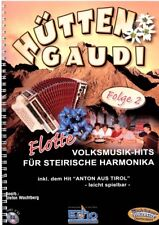 Steirische Harmonika Noten : Hütten Gaudi - Folge 2  - GRIFFSCHRIFT