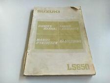 SUZUKI LS 650 (nf41) Mode d'emploi/Owner's manual (1986)