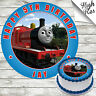 JAMES THE TANK ENGINE EDIBLE ROUND BIRTHDAY CAKE TOPPER DECORATION PERSONALISED