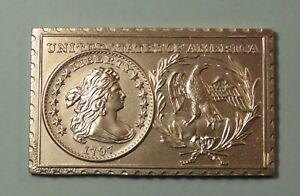 1797 United States U.S.. Draped Bust Dime 10 Cent Numistamp Medal 1973 Mort Reed