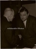 Franz Josef Strauß in London, Orig. Photo, 1957