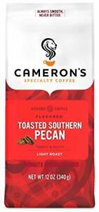 Cameron's Coffee Roasted Ground Coffee Bag Flavored Toasted Southern Pecan 12 Oz