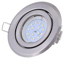Ultra flacher LED Einbaustrahler 5Watt 400Lumen 230Volt schwenkbar Set Downlight