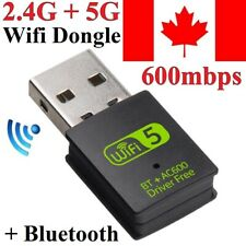 Bluetooth 4.2 USB Wireless WiFi Adapter Network Dongle 600Mbps Windows 2.4G/5G