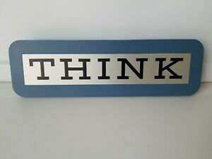 IBM THINK sign desk plaque Original Vintage 1970's/1980's Employee Promo
