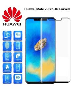 .For Huawei Mate 20 Pro Genuine Full 3D Tempered Glass 9H Screen Protector Cover