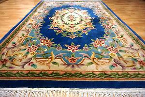 Schöner Blumen China Aubusson Orientteppich 280x180cm Ghom Nain  #5079
