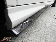 JP Style Side Skirt Lip for 08-14 M-BENZ W204 C250 C300 C350 Sedan Carbon Fiber