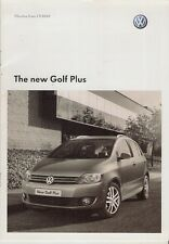 Volkswagen golf plus spécification 2009-10 uk market brochure s se bluemotion