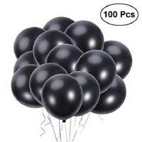 Set 100 Pezzi Palloncini Colore Nero Feste Compleanni Party Bambini moc