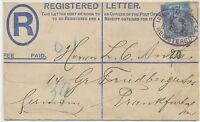 GB 1893 superb QV 2 D PS registered env like Huggins RP18F uprated NOT LISTED