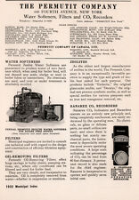 1932 AD PERMUTIT CO WATER SOFTENERS FILTERS RECORDERS RANAREX