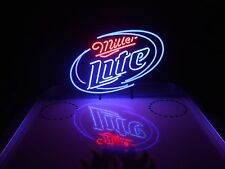 Miller Lite Neon Beer Light Sign & Budweiser Bud Pabst Coors NFL Coasters