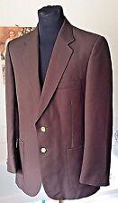 "Vintage 1970's St. Michael choc brown 100% polyester blazer M 39-40"" reg"