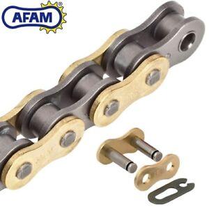 AFAM 520MX4-G Motorrad Rennkette Antrieb Motocross 122 Rollen Clip gold/schwarz