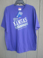 NEW PURPLE KSU KANSAS STATE WILDCATS SHORT SLEEVE SHIRT LARGE L CHAMPION